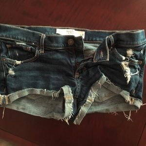 Abercrombie & Fitch Jean Booty Shorts